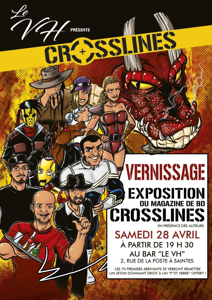 affiche vernissage exposition crosslines